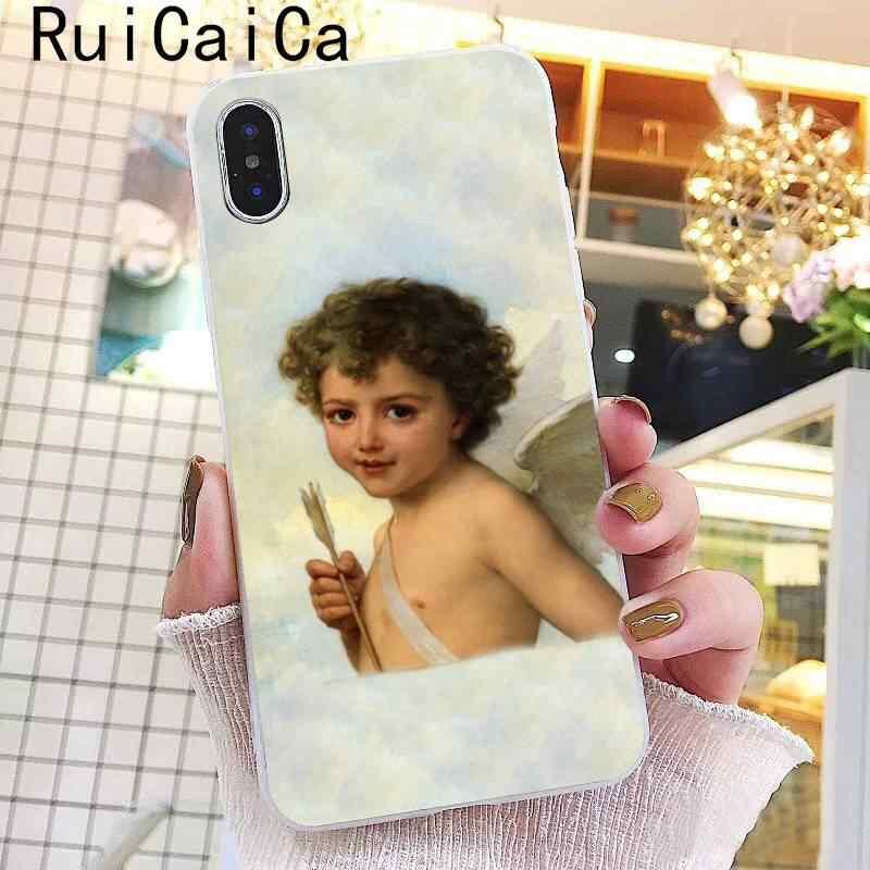Ruicaica Renaissance angels Novelty Fundas Soft ซิลิโคนโทรศัพท์สำหรับ iPhone 8 7 6 6 S Plus X XS MAX 5 5 S SE XR 10 ฝาครอบ