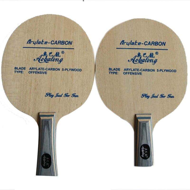 Профессиональный Arylate углерода с 5 слой древесины наступление длинная ручка короткая ручка настольным теннисом лезвие пинг-понг pat ...