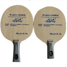 Profesionalus arilatas anglies su 5 sluoksniu medienos įžeidžiantis ilgai rankena trumpą rankena stalo teniso peilis ping pong pat
