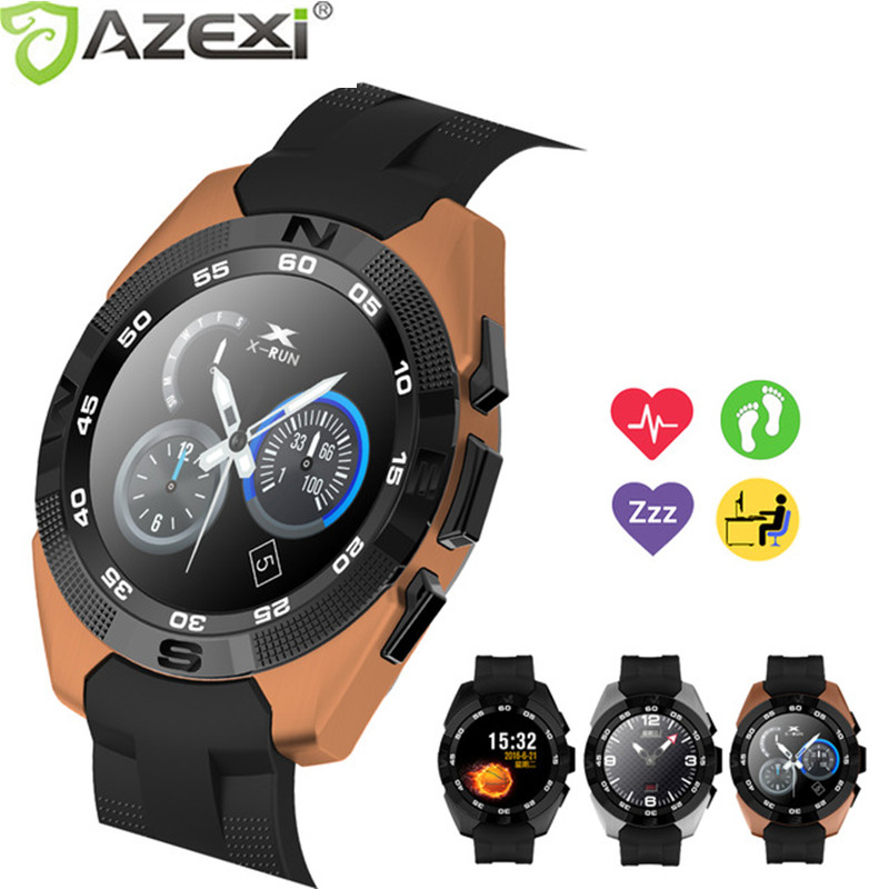 Azexi Smart watch Bluetooth Smartwatch IPS Screen Heart Rate Monitor fitness tracker Pedometer for Apple Iphone IOS and Android zaoyiexport bluetooth f69 smart watch ip68 fitness tracker heart rate monitor smartwatch for iphone xiaomi android pk gt08 dz09