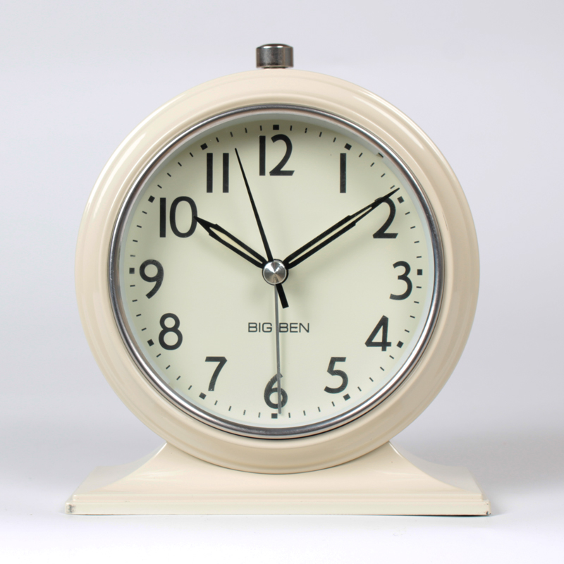 promotion new continental retro alarm clock vintage mute bedside clock luminous simplicity nostalgic fashion bedroom clock