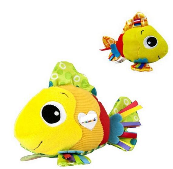 candice guo! super cute mini Feel Me Fish developmental toy multi-color multi-touch baby ...