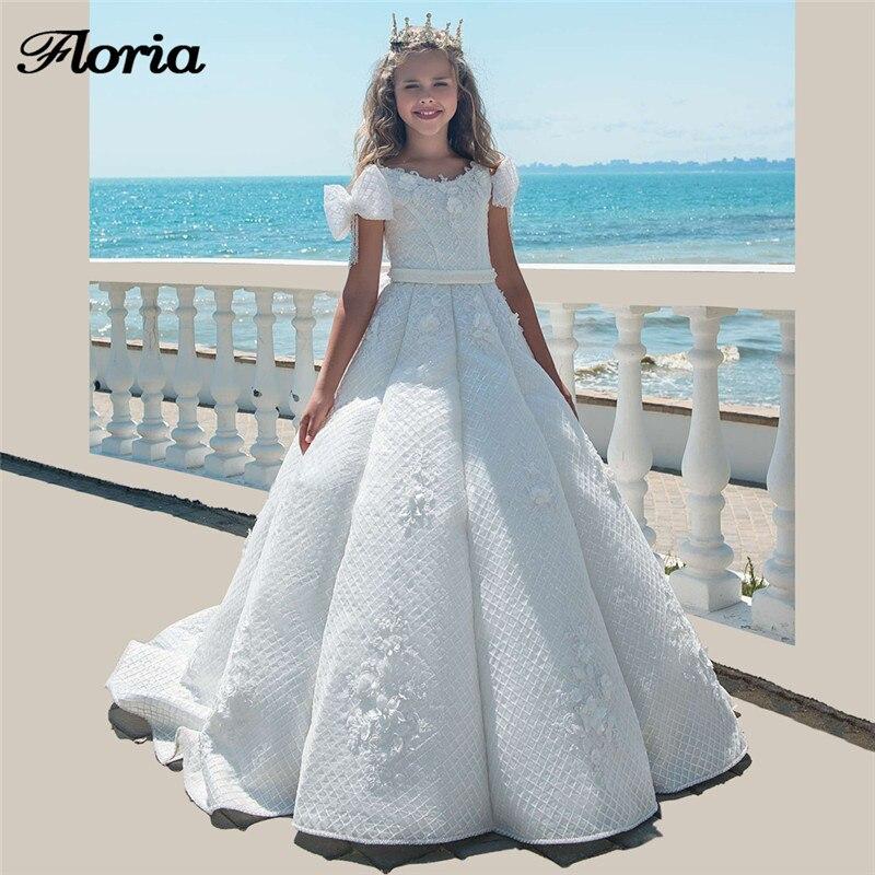 Princess White Flower Girl Dresses For Weddings Vestidos Daminha ...