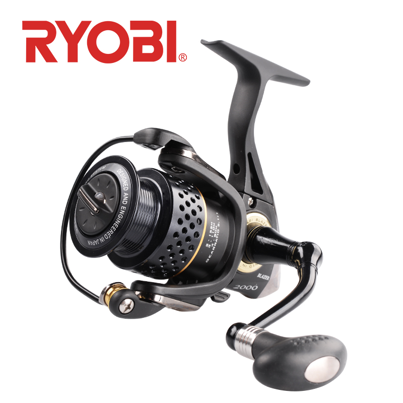 <font><b>RYOBI</b></font> BLAZER Fishing Reel Spinning Wheel 2000 3000 4000 Gear Ratio 5.1:1/5.0:1 2.5kg~5.0kg 7BB carretilha carp reel fishing image