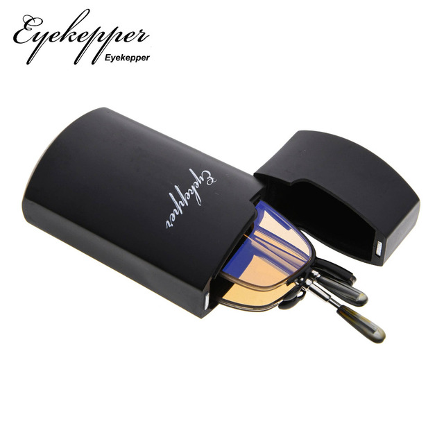 75b7c0238b69 CG1710 Eyekepper UV Protection Half-rim Folding Reading Glasses Telescopic  Arms Readers