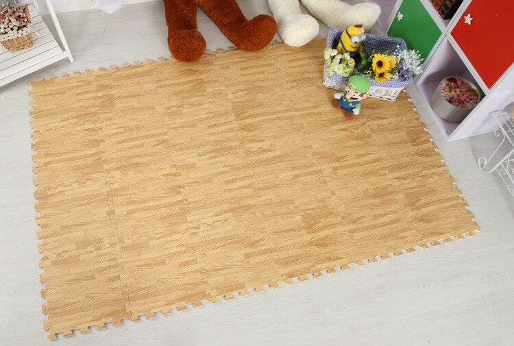 Meitoku Soft EVA Foam puzzle crawling mat;10pcs wood interlock floor tiles;waterproof rug for kids,living room,gym Each:32X32cm