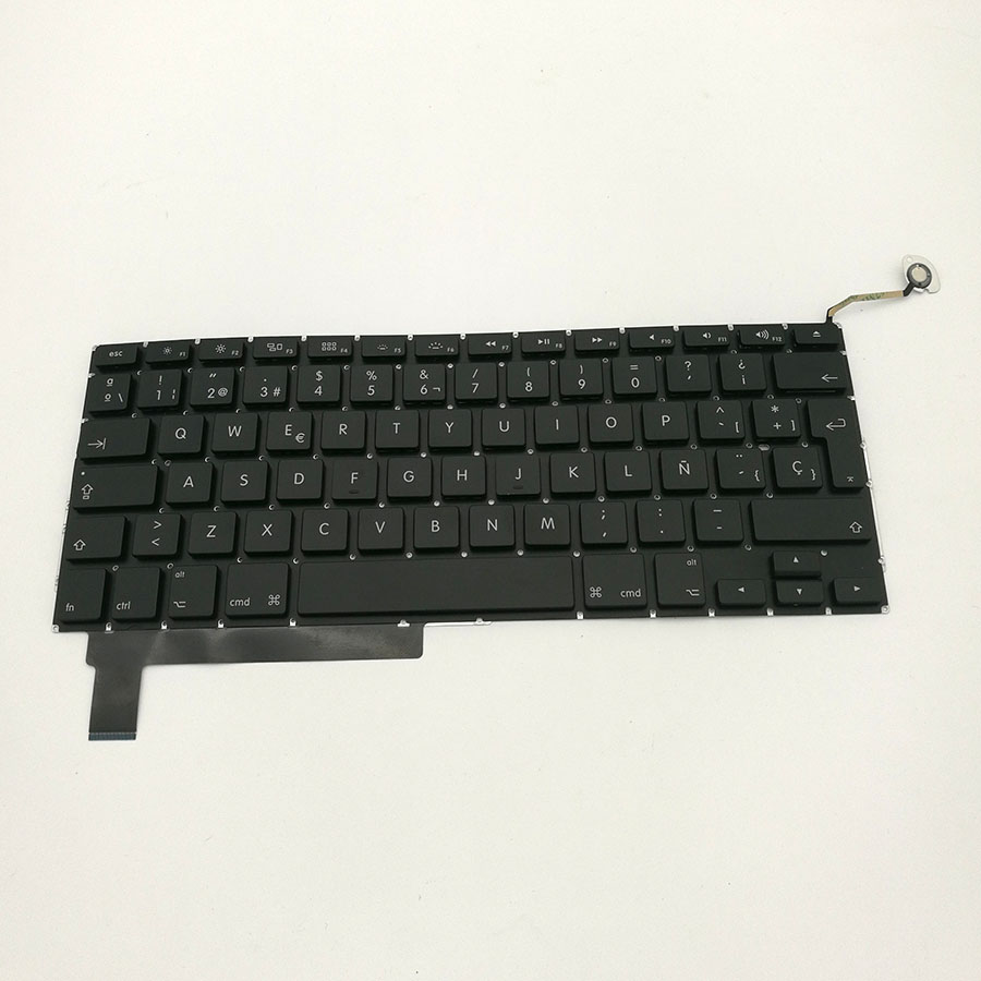 5 pcs Laptop Spain Spanish Keyboard For Macbook Pro 15 A1286 2009-2012 brand new azerty fr french keyboard backlight backlit 100pcs keyboard screws for macbook pro 15 4 a1286 2009 2012 years