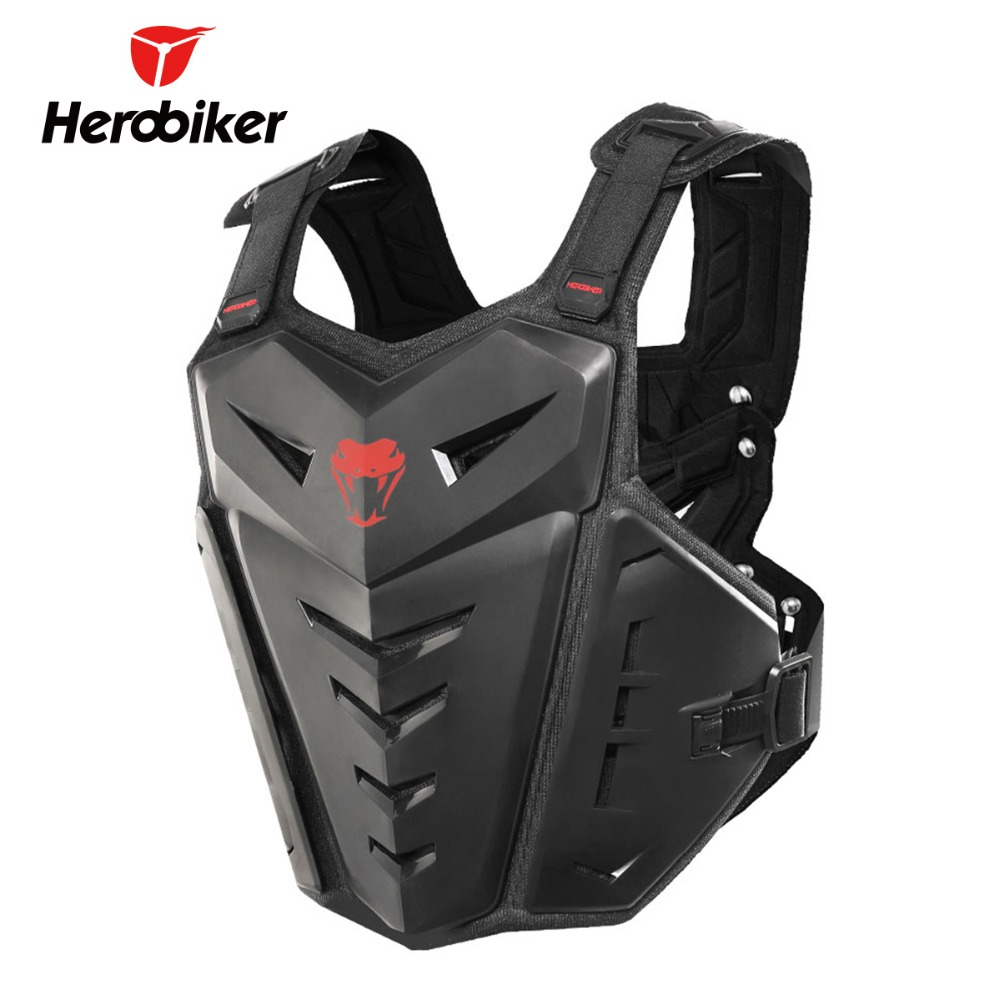 HEROBIKER Motorcycle Body Armor Motorcycle Jacket Moto Motocross Vest Off-Road Dirt Bike Protective Gear Back Chest Protector brand new motorcycle armor protector motocross off road chest body armour protection jacket vest clothing protective gear p14