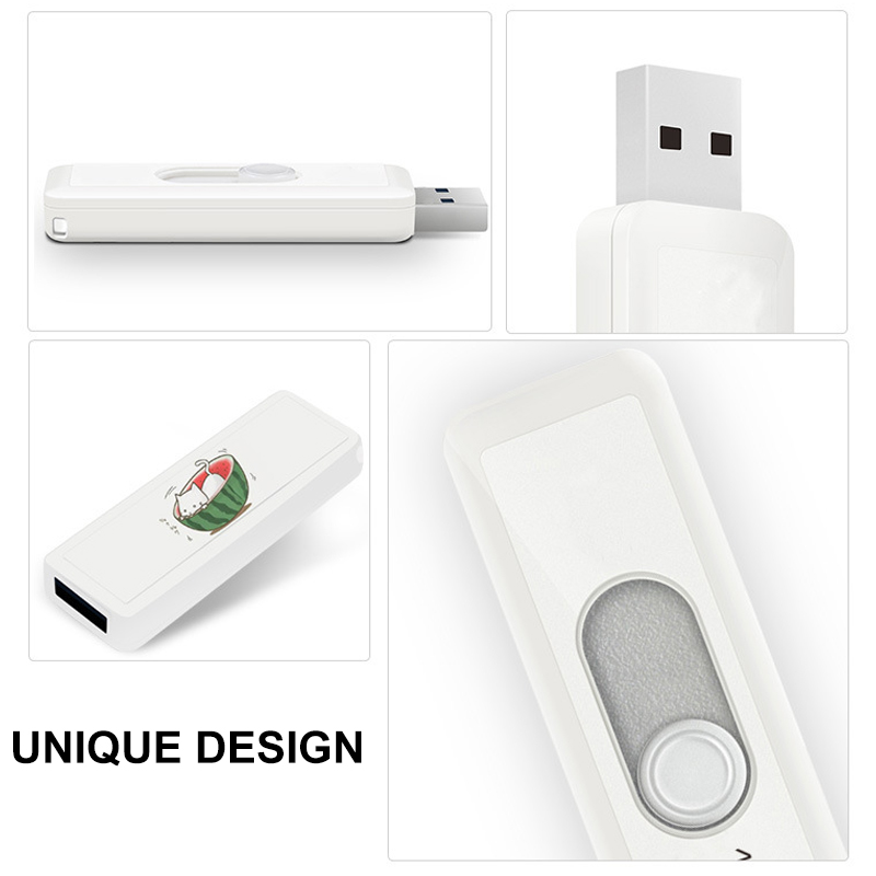 Image 5 - Personalized Pendrive 128GB Flash Drive Push and Pull 64GB Pen Drives U Stick 128 GB USB Flash Drives For Birthday Wedding Gift-in USB Flash Drives from Computer & Office