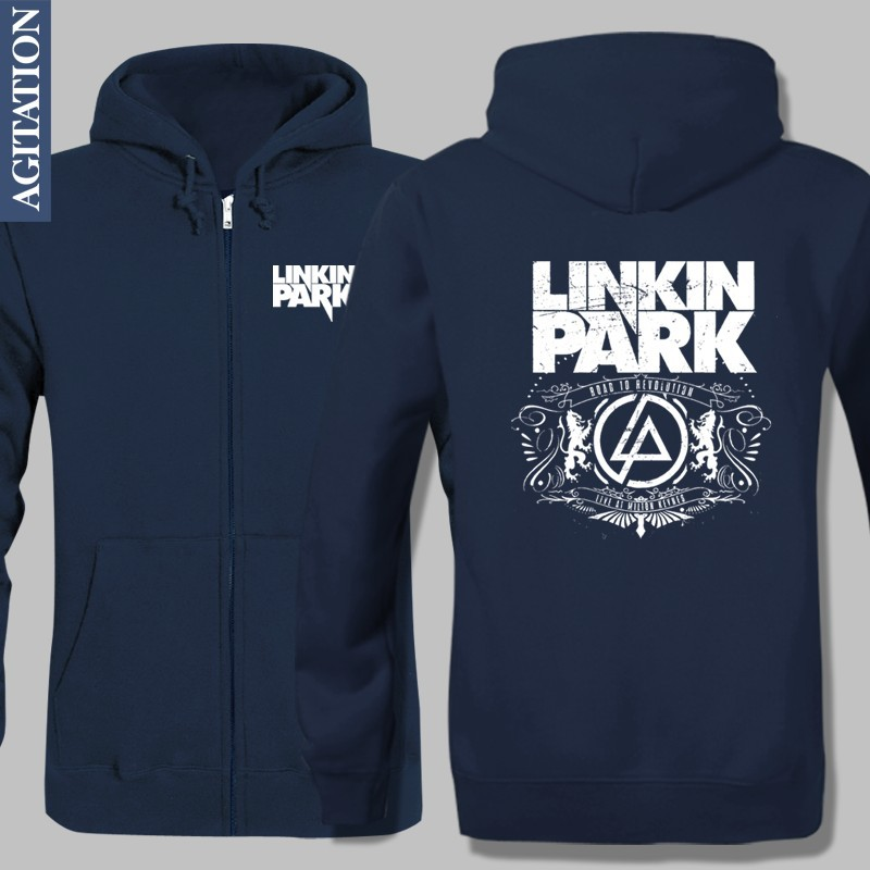 fleece jacket winter warm hoodies music band linkin park. Black Bedroom Furniture Sets. Home Design Ideas