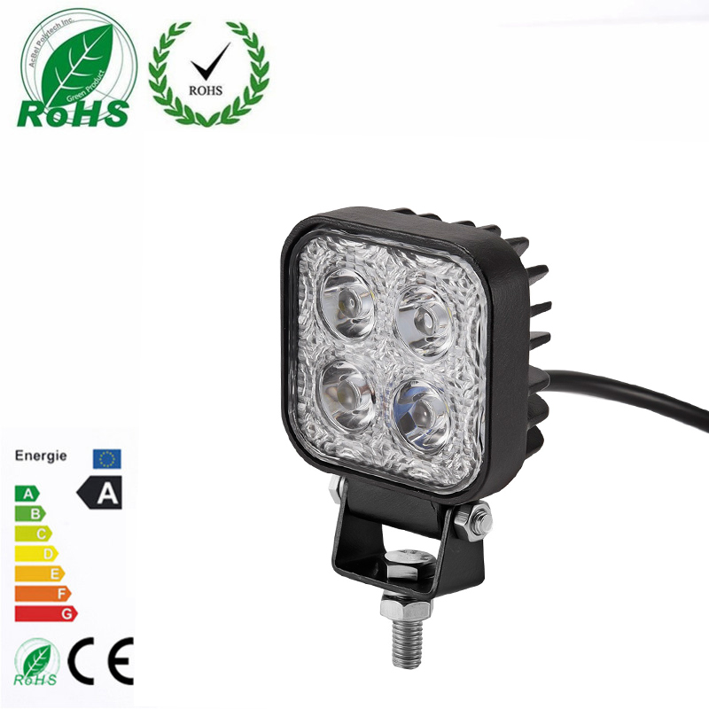 1Pc 12W Work Light Lamp Offroad LED Light Bar for Jeep 4x4 4WD AWD Suv ATV Golf Cart 12V 24V Driving Lamp  Fog Light Motorcycle