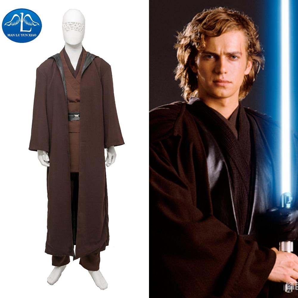 MANLUYUNXIAO Pánské oblečení Anakin Skywalker Cosplay kostým Deluxe kostým Halloween Karnevalový kostým pro muže Custom Made