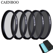 "CAENBOO 49 מ""מ העדשה ND ND2 4 8 עדשת מגן ניטראלי שקית מסנן עדשת ND16 ND32 צפיפות 52 מ""מ Canon ניקון DSRL"