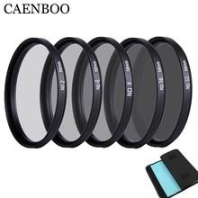 CAENBOO 49mm lente filtro ND ND2 4 8 Protector de lente densidad neutra 52mm ND16 ND32 bolsa de filtro de lente para cámara Canon Nikon DSRL