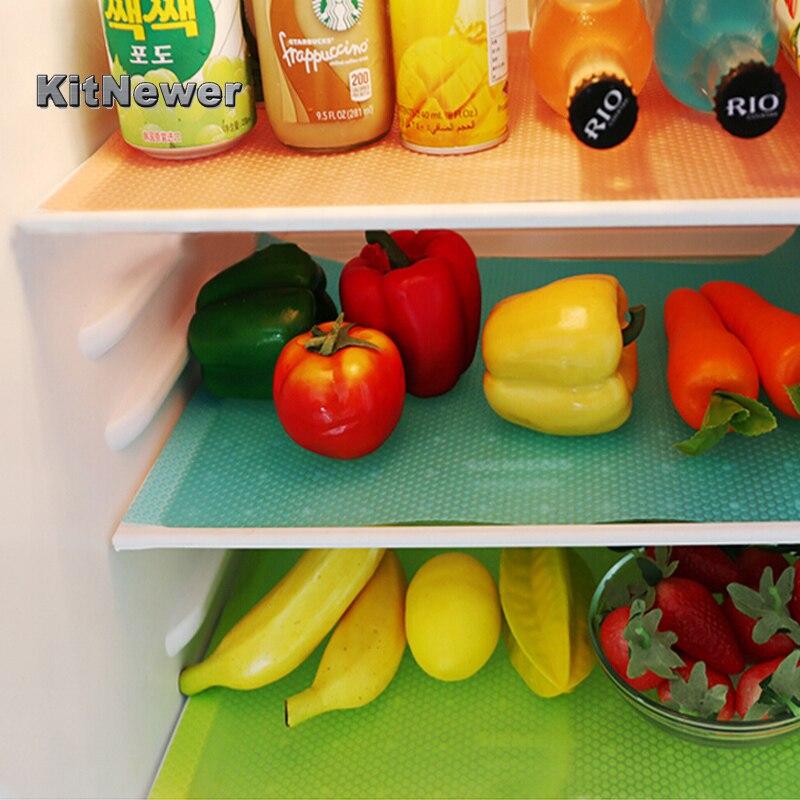 2 PCs/set Refrigerator Pad Antibacterial Antifouling Mildew Moisture Tailorable Pad Refrigerator Mats Fridge Waterproof