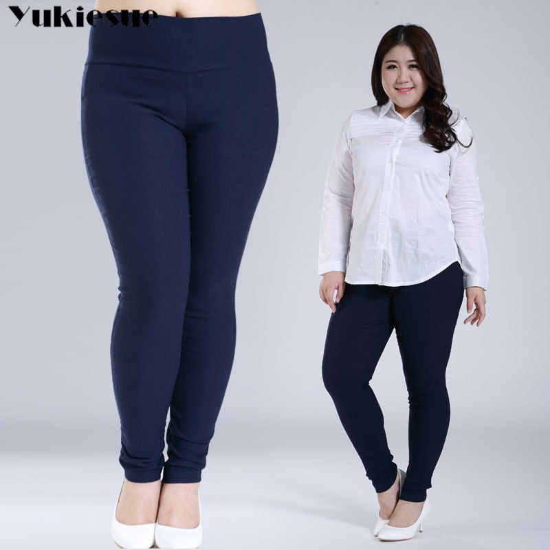 Stretch Leggings For Women High Waist Women Pencil   Pants     capris   White Black Femme Trousers plus Big Size 5xl 6xl Ladies Pantalon