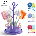 New 2017 Hi-Q detachable colorful newborn baby bottle drying rack antibacterial drying rack for baby feeding bottle and pacifier