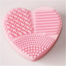 Colorful Heart Shape Clean Make up Brushes Wash Brush Silica Glove Scrubber Board Cosmetic Cleaning Tools for makeup brushes
