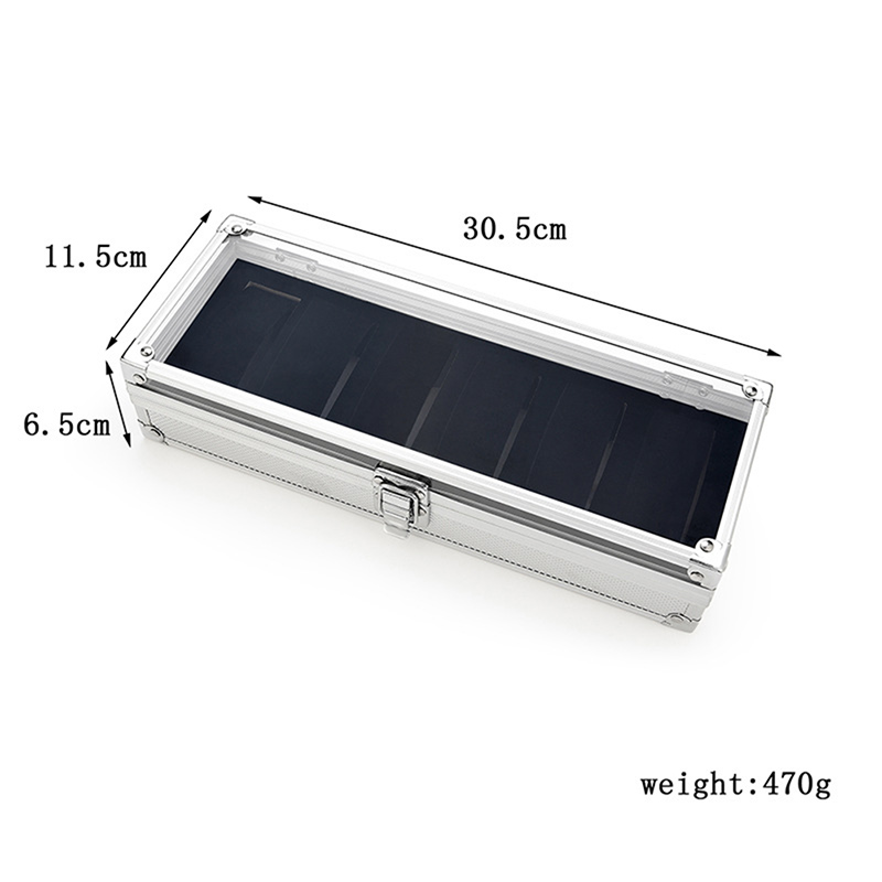 Image 5 - 6 Slots Watch Box Aluminum Display Case Organizer Jewelry Storage Tray CX17-in Watch Boxes from Watches