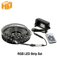RGB LED Strips 5050 DC12V 5m 300 LEDs Fleixble Light 17Keys RF Controller 12V 3A Power