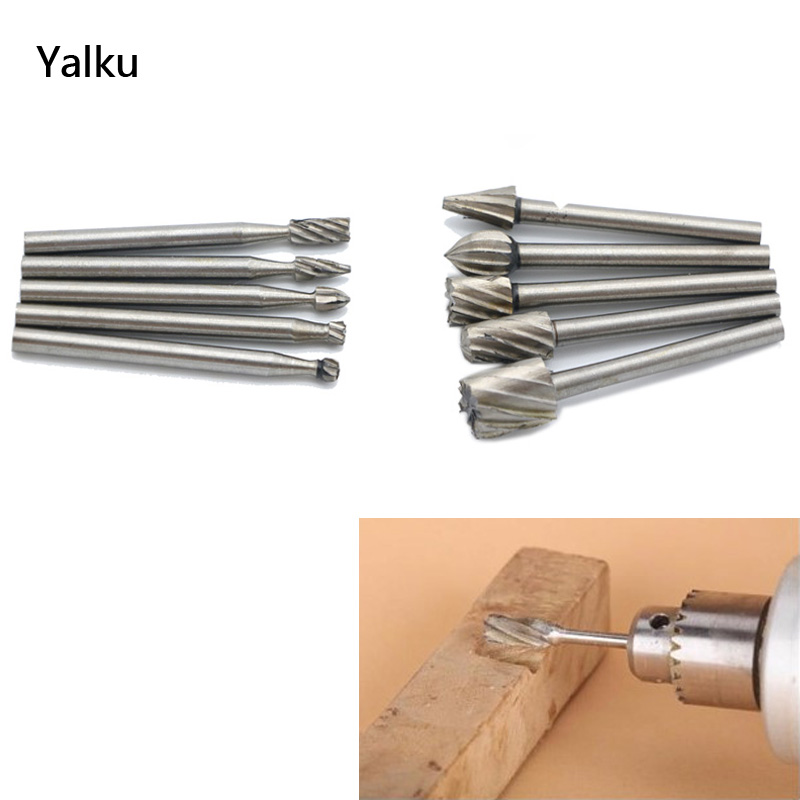 Yalku 6/10/20pc High Speed Steel Tools Drill Bit Set Wood Carving Rasps Dremel Drill Bit Tools Hot Sale Engraving Cutter Drill 13pcs set hss high speed steel twist drill bit for metal titanium coated drill 1 4 hex shank 1 5 6 5mm power tools par ad1038
