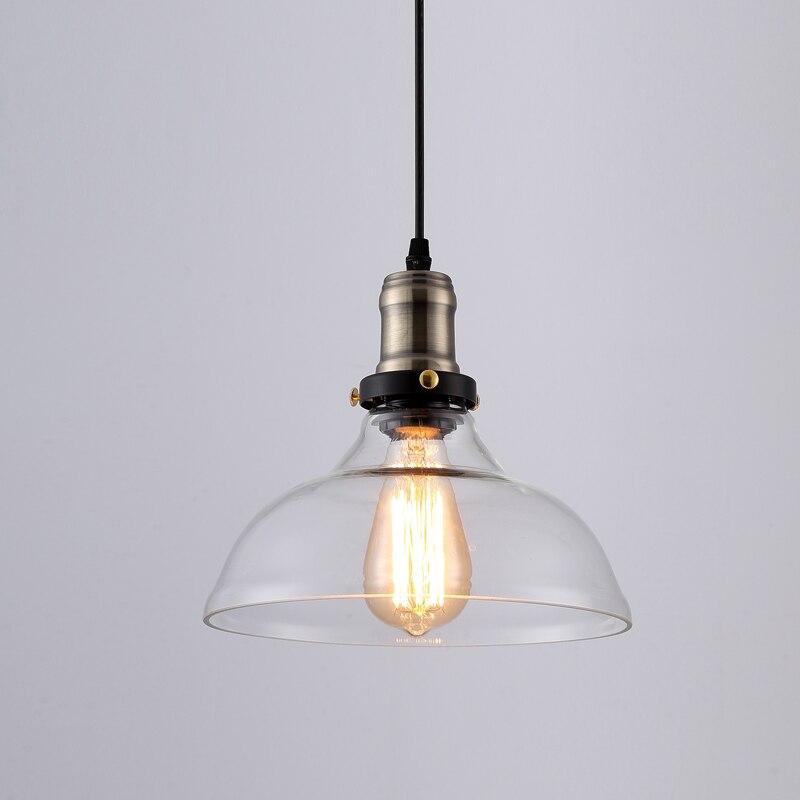 Suspension vintage américaine en verre clair suspension cloche suspension E27 110 V 220 V pour salle à manger décor à la maison planétarium - 3