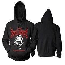 6 видов конструкций пуловер свитшот приятный мягкий и теплый мастер Nunslaughter рокерское черное толстовки с капюшоном в стиле панк death metal, Спортивная кофта, худи «Демон» из флиса