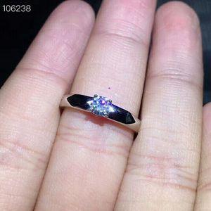 Image 1 - Meibapj 4mm brilho moissanite pedra preciosa clássico simples anel para mulher 925 prata esterlina jóias de casamento fino