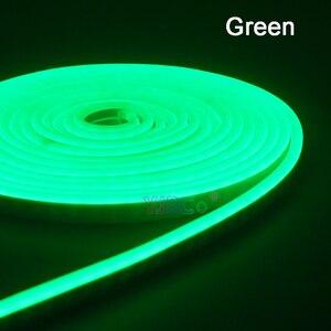 Image 4 - 5m DC12V גמיש Led רצועת ניאון קלטת SMD 2835 רך חבל בר אור 120 נוריות/m הסיליקון גומי צינור חיצוני עמיד למים אור