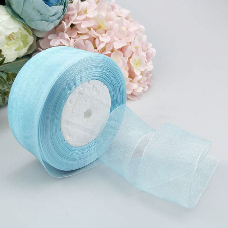 50Yard 40mm Crystal Organza Ribbon Roll Invitation Card Gift Wrapping Ribbon For Home Wedding Party Decoration gift packaging in Party DIY Decorations from Home Garden