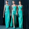 Turquoise  Bridesmaid Dresses 2016 Three Style V Neck A Line  New Arrival Wedding Party Dress Vestido De Festa De Casamento
