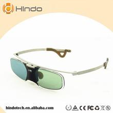 DLP LINK 3D aktywne okulary migawkowe do Optoma Sharp LG Acer BenQ DLP-LINK projektory DLP Gafas 3D cheap shutter Brak Nie-Wciągające Okulary Tylko Lornetka RX30 HINDOTECH HD Black DLP LINK projector 96-144HZ 1000 1 Active shutter