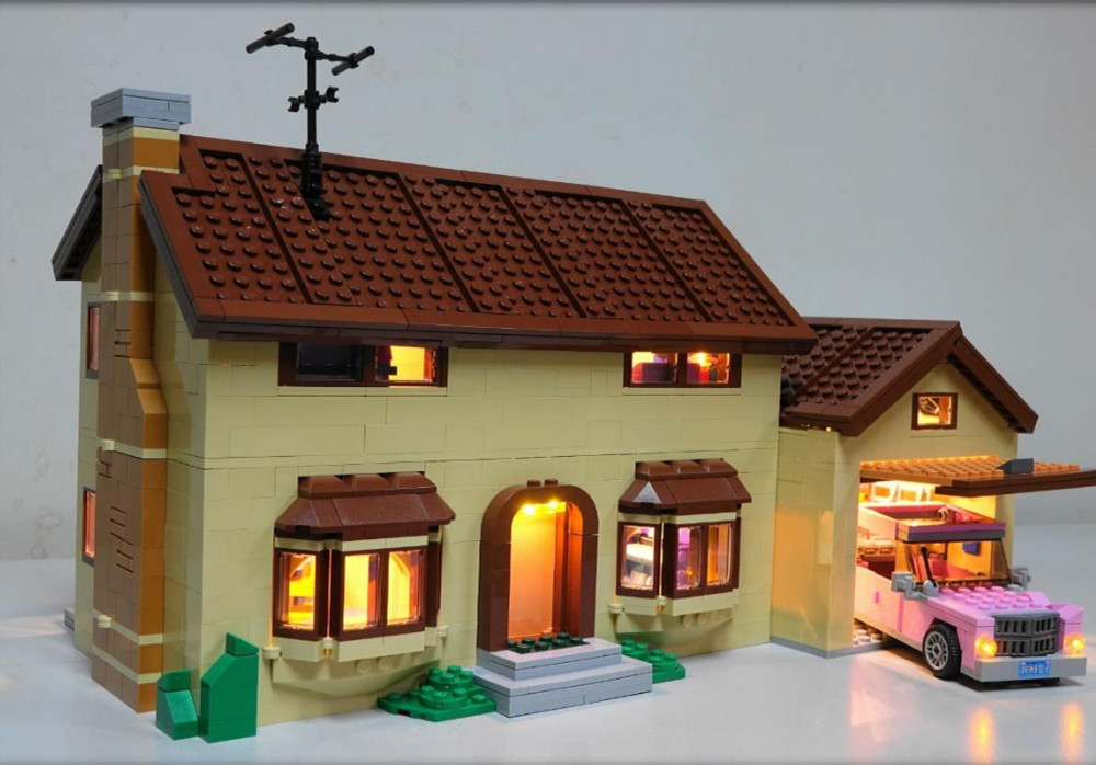 Led Light Kit For lego The Simpsons House Light Set Compatible With 71006 And 16005 NOT