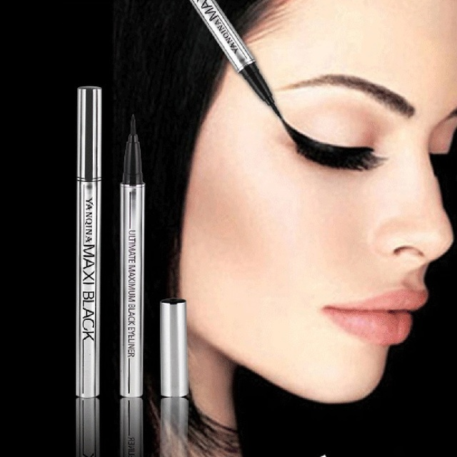 1 PC Gros Extreme Noir Étanche Maquillage Cosmétique Eyeliner Crayon Stylo Belle Utilisation Facile Outils De Mode de Femmes 1