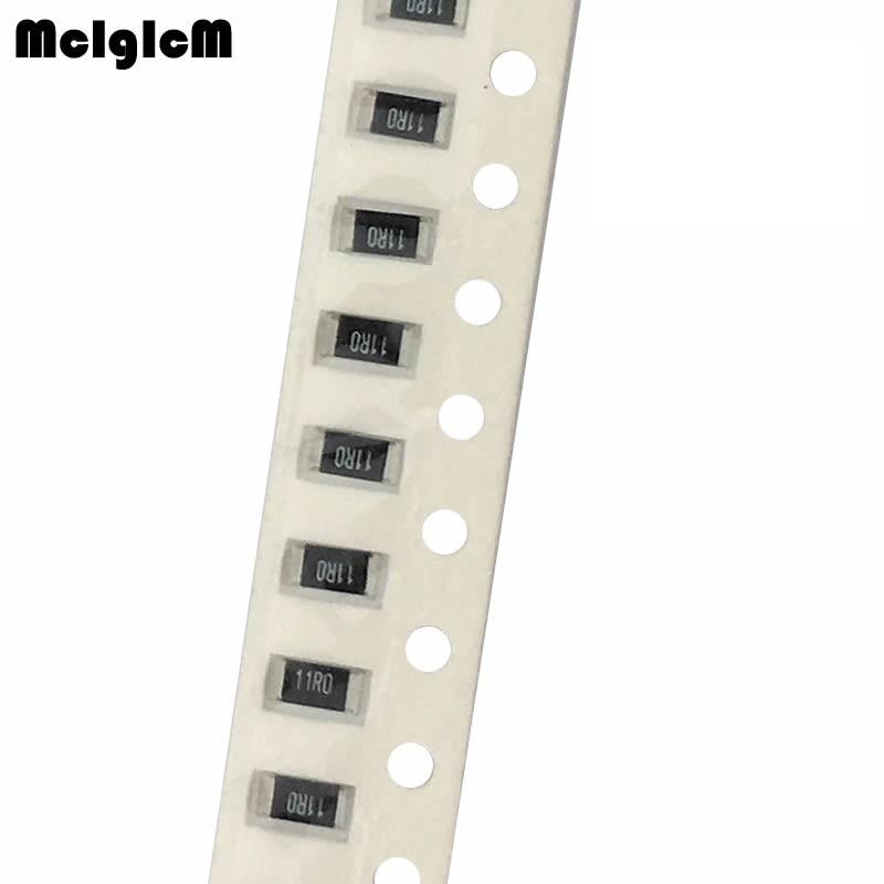 MCIGICM 200pcs 1% 1206 Smd Chip Resistor Resistors 0R-10M 1/4W 10k 22k 150k 220k 470k
