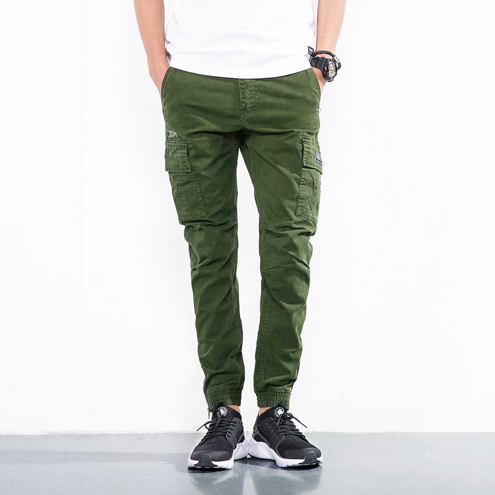 retail prices world-wide renown enjoy bottom price 2019 Army green Cargo Pants Men's Hip Hop Casual Camouflage Combat Trousers  Fashion Pencil Pants Streetwear Joggers Sweatpants