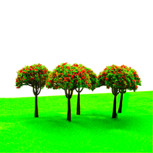 20pcs 8cm Height Model Color Flower Trees Miniature Architecture Different Type Garden Plants For Diorama Forest Scene Making