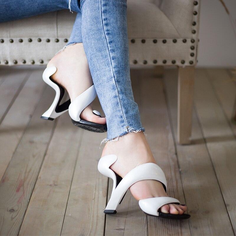 Koovan femmes sandales 2017 été nouvelle mode sans fond serpent talons hauts plate-forme sandales chaussures femme chaussures de mariage femmes pompes - 3