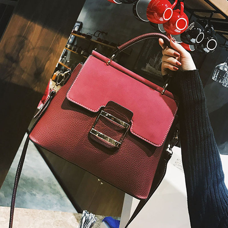 ETAILL Top Handle Bags Famous Brands Women Handbag Designer Totes Female Flap Shoulder Bag Pu Leather Belt Buckles Crossbody Bag lafestin luxury shoulder women handbag genuine leather bag 2017 fashion designer totes bags brands women bag bolsa female