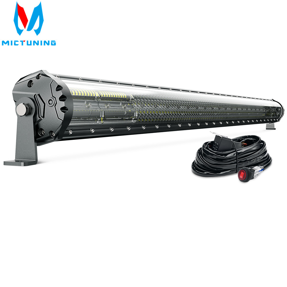 Latest 52 Inch 4-Row LED Light Bar Magical M2 Aerodynamic Off Road Driving Work Light for Jeep ATV Truck Boat