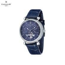 Наручные часы Earnshaw ES-8046-06 мужские механические с автоподзаводом на кожаном ремешке