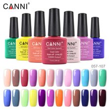 7.3 ml CANNI Gel Polish LED UV (024-046) Soak Off Top Base primer finition Durable Gel polish 239 Color uv gel nail polish цена 2017