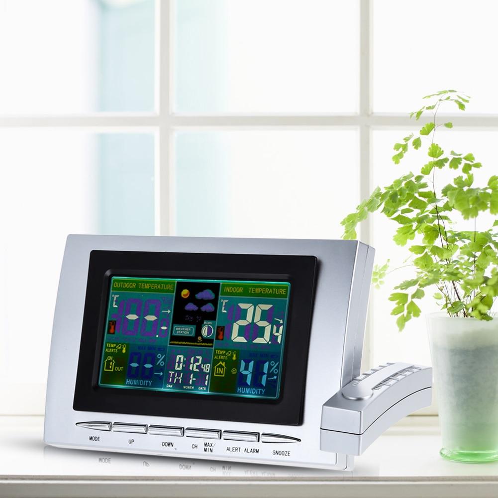 0~50C Wireless Indoor Outdoor Weather Station Therometer Digital Clock Calendar Temperature Humidity Meter Tester FREE POST стоимость