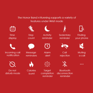 Image 2 - Original Huawei Honor Band 4 Running Version Smart Wristband Shoe Buckle Land Impact Sleep Snap Monitor
