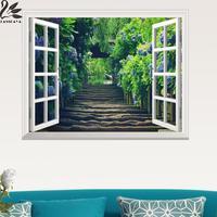 3d Stereo Okna Naklejki Salon Sypialnia Badania samoprzylepne Dekoracyjne Malarstwo Pejzażowe Natura