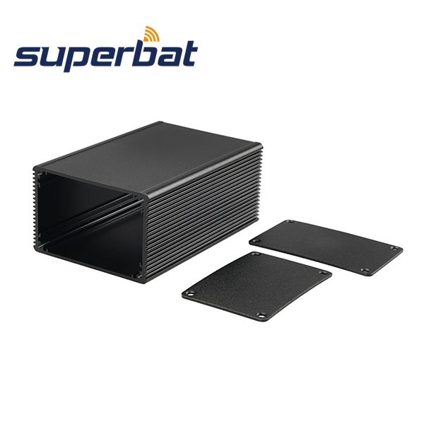 Extrusion Desktop New Aluminum Box Enclosure Case Project electronic black DIY -100*66*43MM(L*W*H)