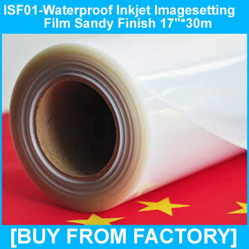 "Waterproof Inkjet Film for Screen Printing Positives 17""*30m"