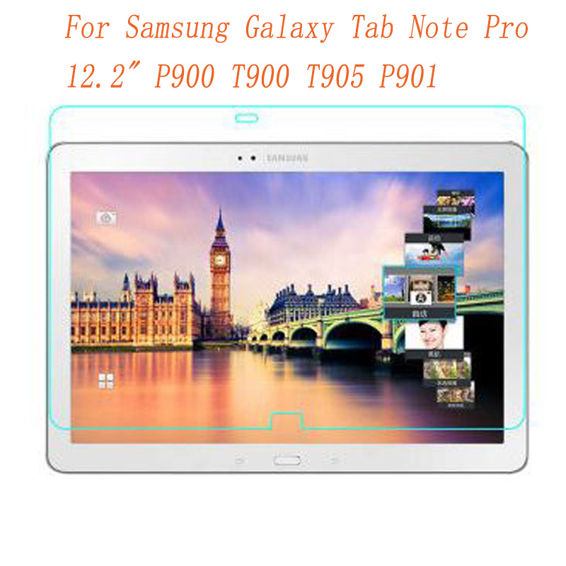 Tempered Glass For Samsung Galaxy Tab Note Pro 12.2 P900 T900 Screen Protect Tablet Film Screen Protect Cover For SM-T905 Glass official original metal keyboard station wireless blutooth stand case cover for samsung galaxy note pro 12 2 p900 p901 p905 t900
