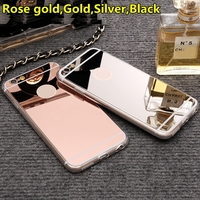 Ultra Thin Luxury Bling Mirror Soft TPU Silicon Back Cover Case For IPhone 7 6 6s