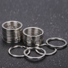 20pcs Split Key Rings 1.5x25mm Metal Hook Ring for DIY Keychain Making Handmade Jewelry Connectors Accessories High Quality